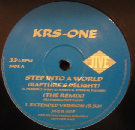 KRS-One ‎– Step Into A World (Rapture's Delight) (The Remix)