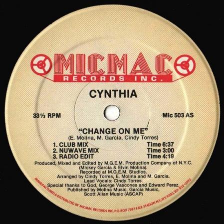 Cynthia ?– Change On Me