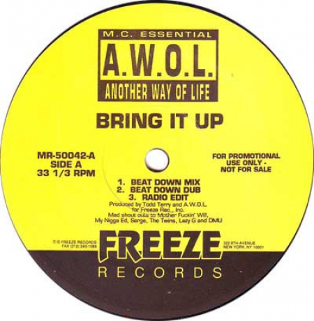 MC Essential AWOL ‎– Bring It Up