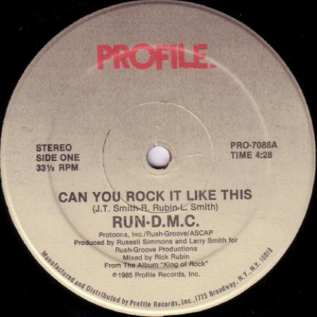 Run-DMC ‎– Can You Rock It Like This