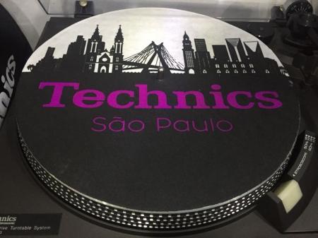 Feltro Technics São Paulo Preto & Roxo Espessura Fina UNIDADE