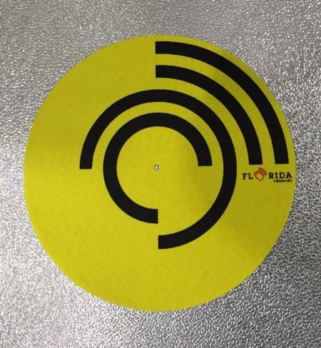 Feltro Florida Records Yellow Espessura Fina UNIDADE