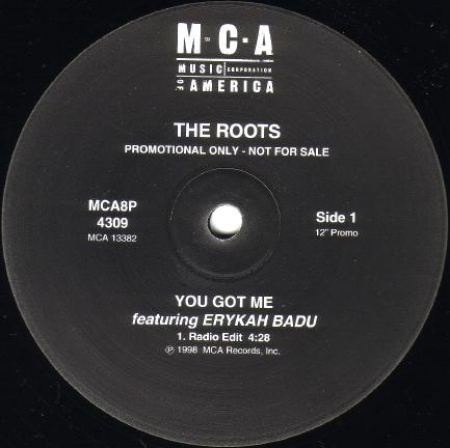 The Roots Featuring Erykah Badu ‎– You Got Me