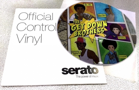 Timecode Serato Control Vinil Personalizado THE GET DOWN BROTHER (O Par)
