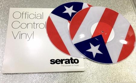 Timecode Serato Control Vinil Personalizado Porto Rico (O Par)