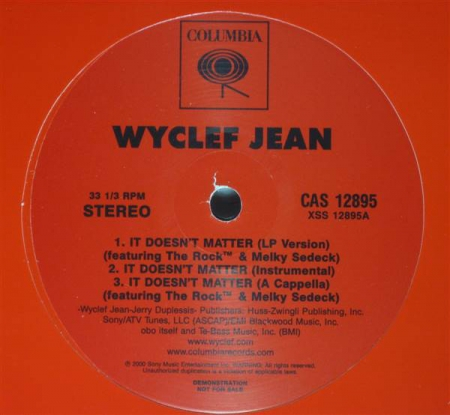 Wyclef Jean ‎? It Doesn't Matter