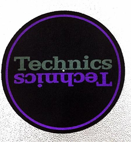 Feltro Technics Double (Preto Roxo Verde) Unidade