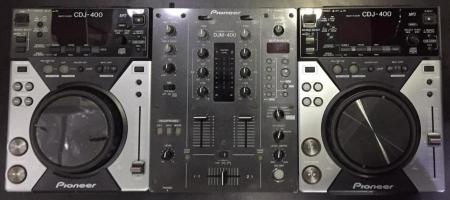 Kit Pioneer O Par de CDJ 400 + Mixer 400