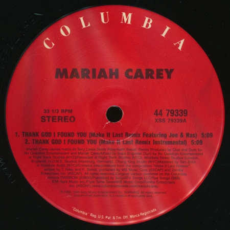Mariah Carey ?– Thank God I Found You (Remix with Nas And Joe)