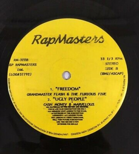 Sugarhill Gang, Grandmaster Flash & The Furious Five, Cash Money & Marvelous ?– RapMasters