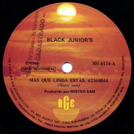 Black Junior's ?– Mas Que Linda Estás