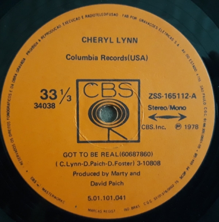 Cheryl Lynn ?– Got To Be Real