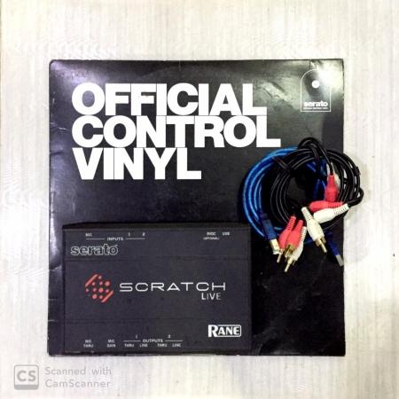 SERATO SL 1 ( PLACA + CABOS USB E RCA + TIMECODED) USADO