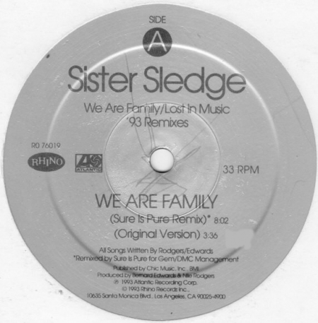 Sister Sledge ?– We Are Family / Lost In Music ('93 Remixes)