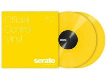 TIMECODE SERATO CONTROL YELLOW CLEAR 12 INCH (PAIR)