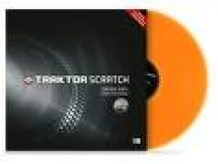Disco Vinyl Traktor - Laranja Fluorescente