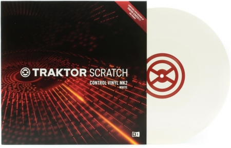 Timecode Traktor Control Vinyl Branco Mk2 (Unidade)
