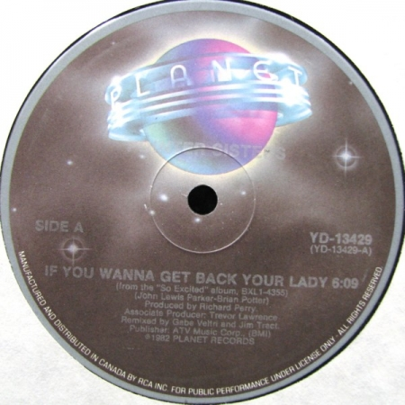 Pointer Sisters ?– If You Wanna Get Back Your Lady / I'm So Excited