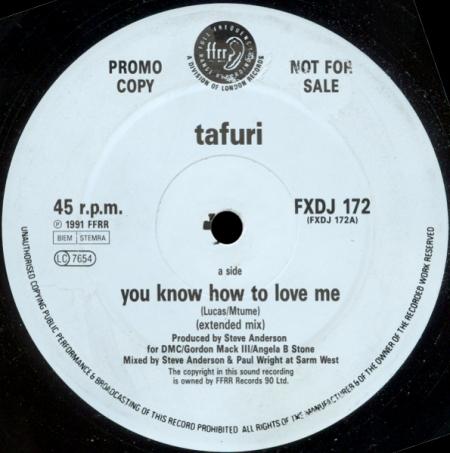 Tafuri – You Know How To Love Me