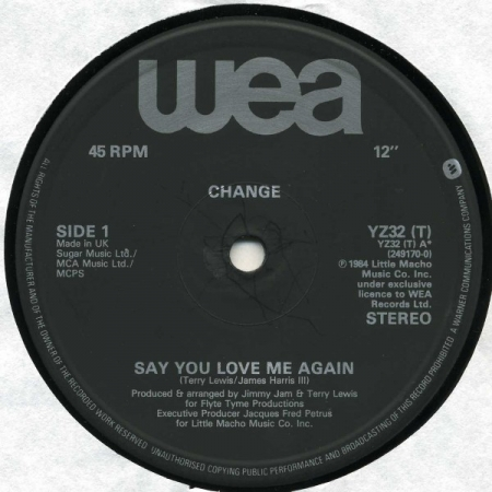 Change – Say You Love Me Again / Change Medley