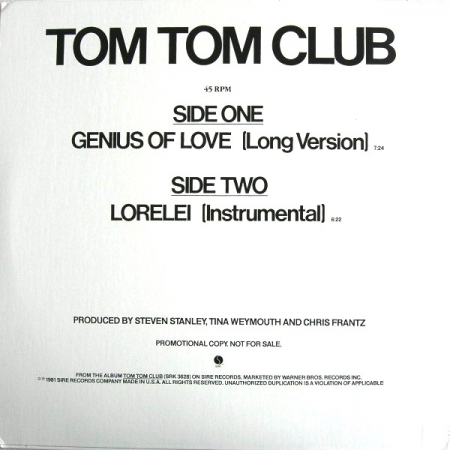 Tom Tom Club ?– Genius Of Love
