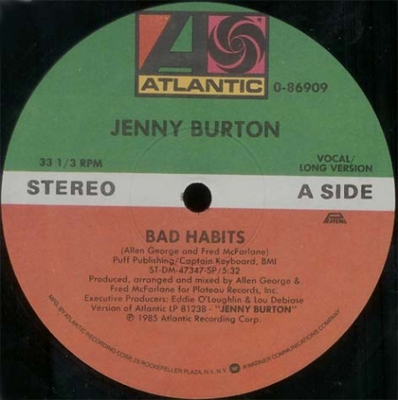 Jenny Burton ‎– Bad Habits