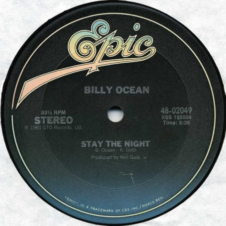 Billy Ocean - Stay The Night / Night (Feel Like Getting Down)