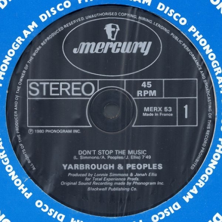 Yarbrough & Peoples - Don't Stop The Music / You're My Song