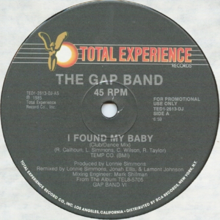 The Gap Band - I Found My Baby