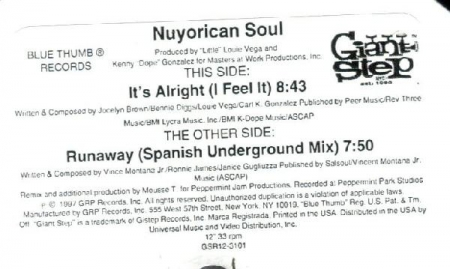 Nuyorican Soul - It's Alright, I Feel It / Runaway
