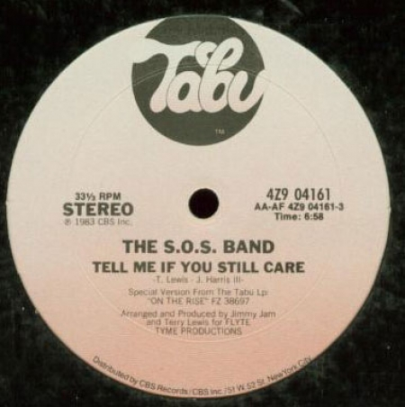The S.O.S. Band ‎– Tell Me If You Still Care