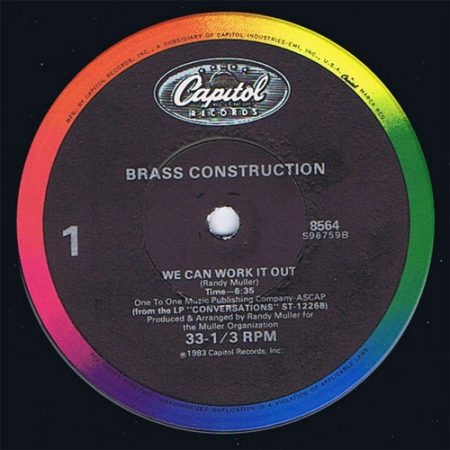Brass Construction - We Can Work It Out