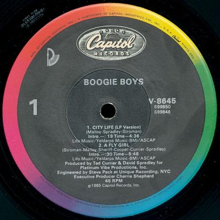 Boogie Boys - City Life / A Fly Girl
