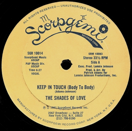 The Shades Of Love ‎– Keep In Touch (Body To Body)