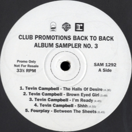 Various ‎– Club PromotionsBack To Back Album Sampler No. 3