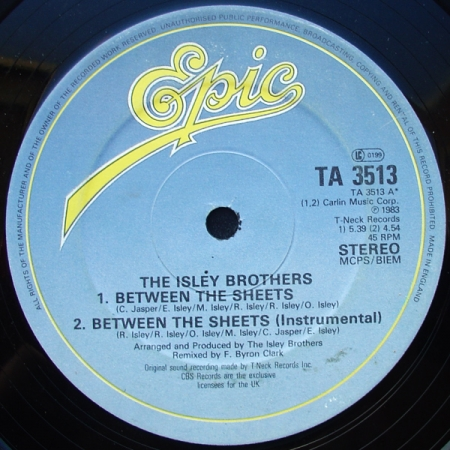 The Isley Brothers‎– Between The Sheets