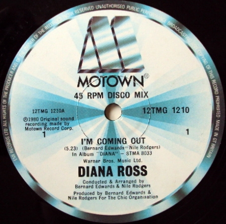 Diana Ross ‎– I'm Coming Out