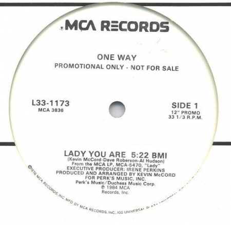 One Way - Lady You Are / Mr. Groove