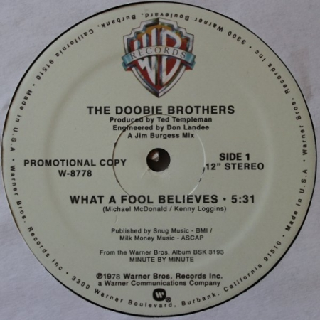 The Doobie Brothers Michael McDonald - What A Fool Believes / I Keep Forgettin / Ya Mo B There