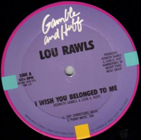 Lou Rawls - I Wish You Belonged To Me / It's A Tough Job