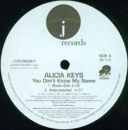 Alicia Keys ‎– You Don't Know My Name