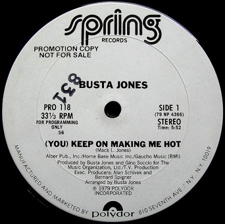 Busta Jones – (You) Keep On Making Me Hot