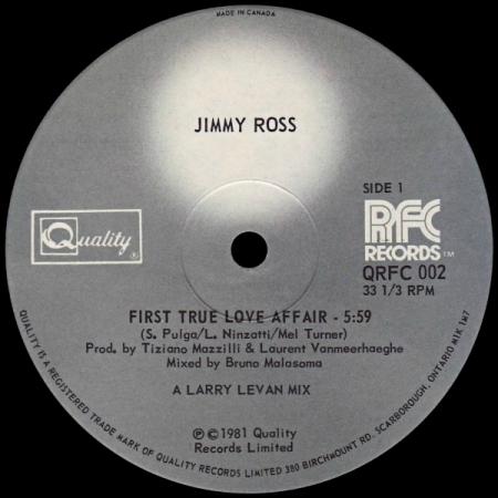 Jimmy Ross ?– First True Love Affair