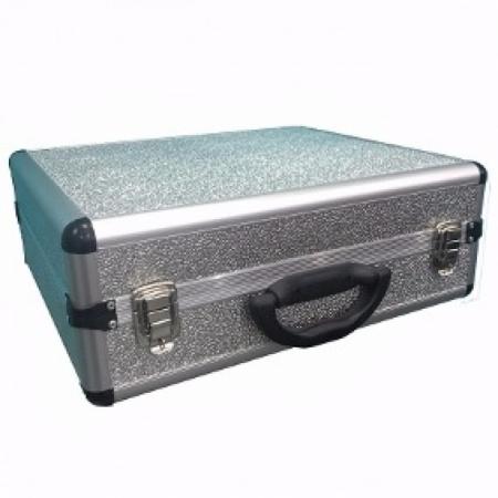 Case para Toca Disco Prata Aluminio (usado) FOTO ILUSTRATIVA