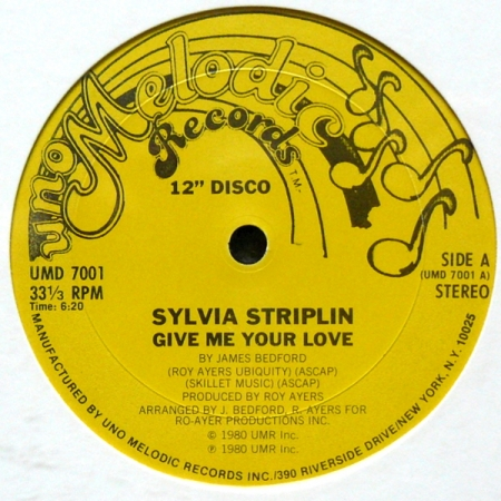 Sylvia Striplin – Give Me Your Love / You Can't Turn Me Away