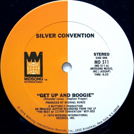 Silver Convention - Get Up And Boogie / Fly, Robin, Fly