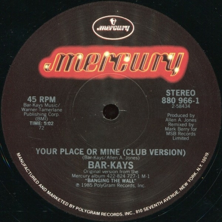 Bar-Kays – Your Place Or Mine