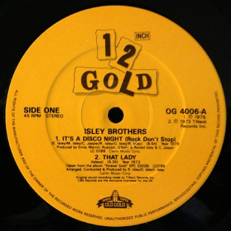 Isley Brothers* – It's A Disco Night / That Lady / Summer Breeze / It's Your Thing