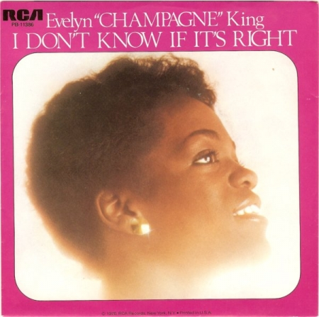 Evelyn Champagne King - I Don't Know If It's Right / We're Going To A Party