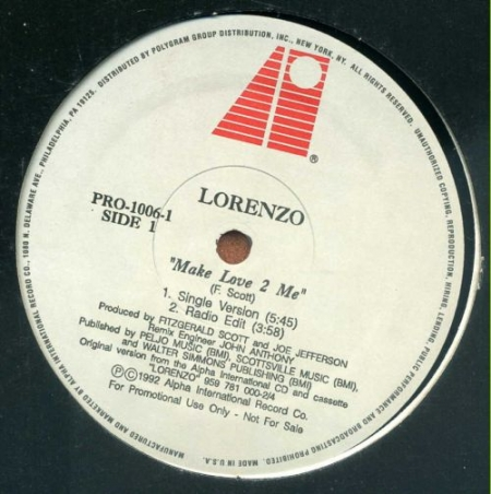 Lorenzo - Make Love 2 Me